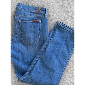 7 For All Mankind Jeans - 7 FOR ALL MANKIND THE RELAXED SKINNY CROPPED JEANS